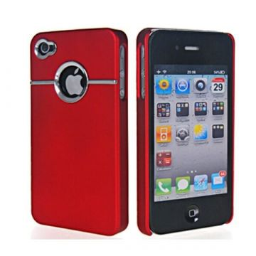 Coque Silver Line Rouge iPhone 4 4S