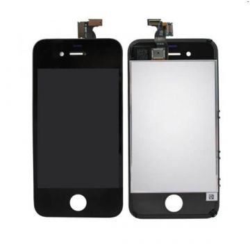 First Quality Glass Digitizer, LCD Screen and Full Frame for iPhone 4 Black