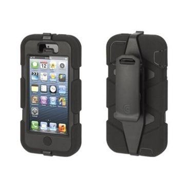 Coque indestructible Survivor iPhone 4 4S noire + 2 films AV AR gratuit