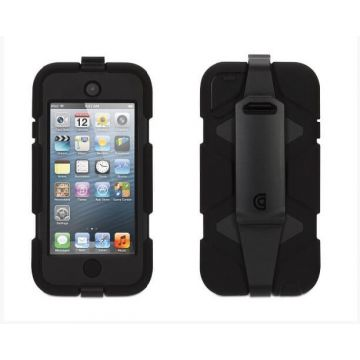 Indestructible Survivor Case Black for Ipod Touch 5