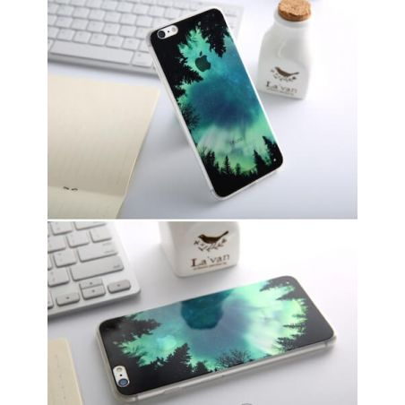 Supple Silicone Northern Lights iPhone 6/6S Case