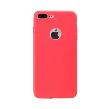 Coque Silicone iPhone 7 Plus - Rouge Corail