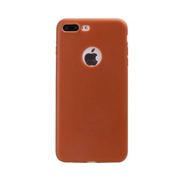 Siliconen Cover iPhone 7 Plus - Brown