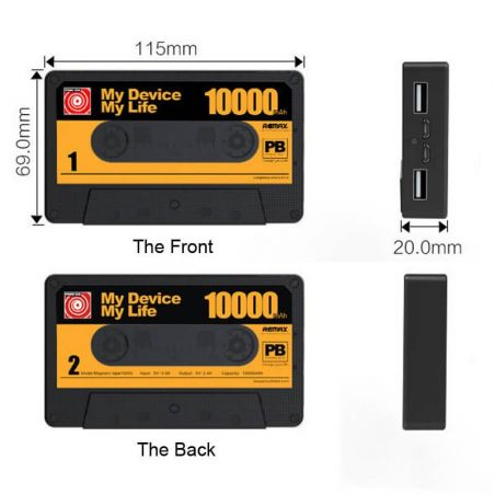 Remax 10000 mAh Cassette Tape External Battery Power Bank