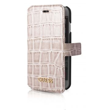 Guess beige croco book case iPhone 7 / iPhone 8