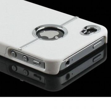 Silver Line Case in White iPhone 4 4S