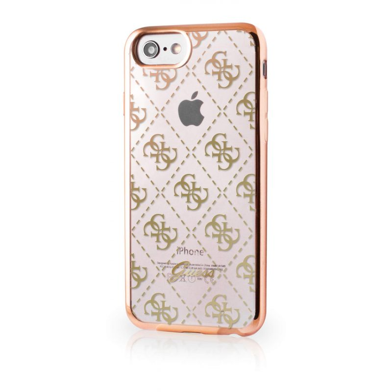 Guess Clear Gold cover iPhone 7 / iPhone 8