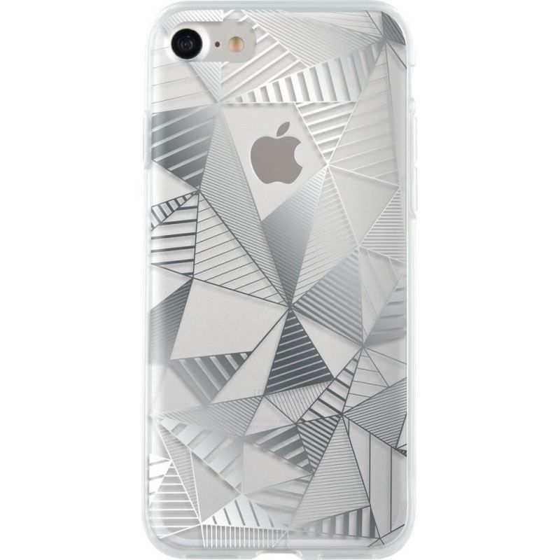 Bigben Silver Graphic Cover iPhone 7