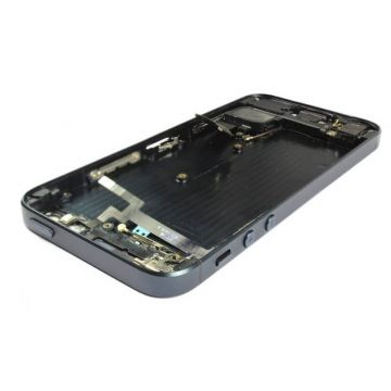 Complete frame and metallic border for iPhone 5 Black