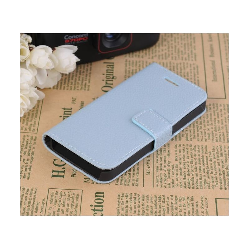 Portfolio Stand Case Light Blue iPhone 5/5S/SE