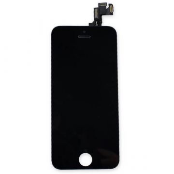 2nd Quality Glass digitizer complete assembled, LCD Retina Screen and Full Frame for iPhone SE Black