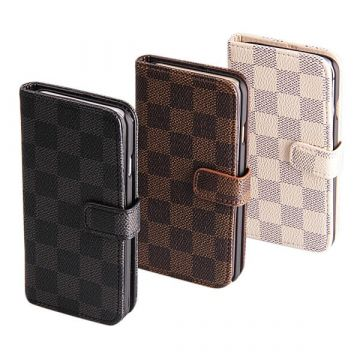 Chessboard Patern Portfolio Stand Case iPhone 7 / iPhone 8