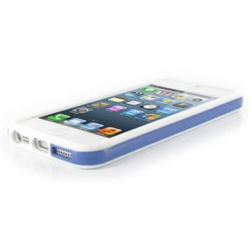 Bumper - Contour TPU Bleu et transparent iPhone 5