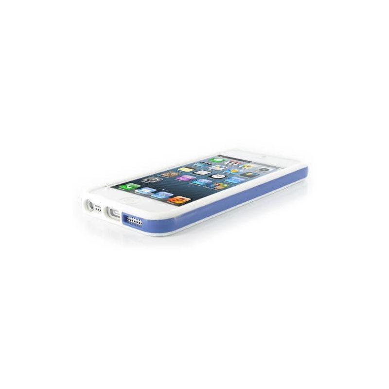 TPU Bumper White and Blue for iPhone 5/5S/SE