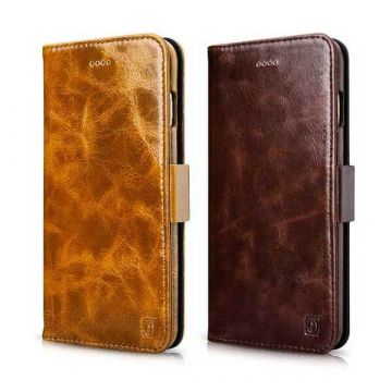 Etui portefeuille en cuir iPhone 7 Plus / iPhone 8 Plus