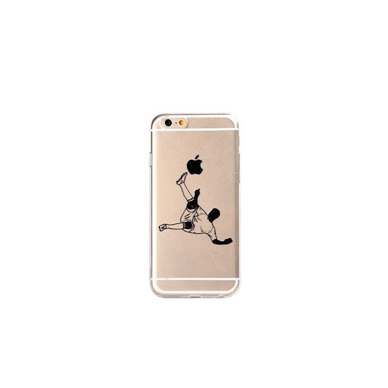 Soccer player iphone 6 6s soft case macmaniack for Coque iphone 6 miroir