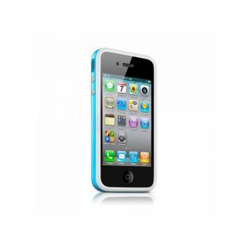 Bumper - Blauwe rand in TPU IPhone 4 & 4S