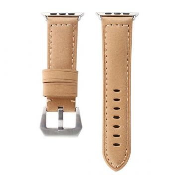 Hoco brown leather Apple Watch 38mm bracelet with adapters