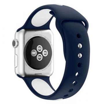 Bracelet Apple Watch Sport bande silicone 38mm Bleu