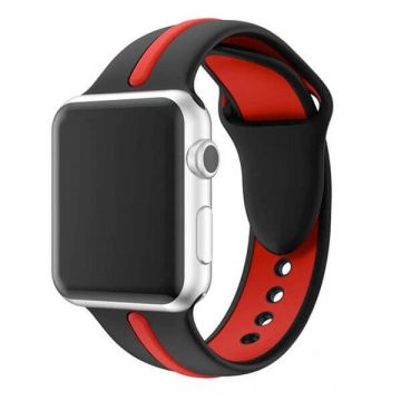 Bracelet Apple Watch Sport bande silicone 44mm & 42mm Noir