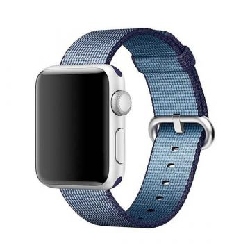 Bracelet Nylon Tressé Bleu Roi Apple Watch 38mm