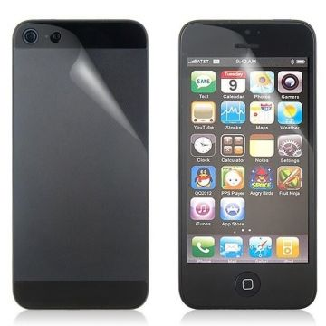 Screen Protector iPhone 5/5S/SE Front & Rear clear