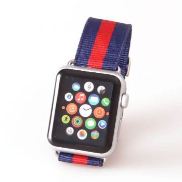 Bracelet Nylon Tressé Ligné Apple Watch 38mm