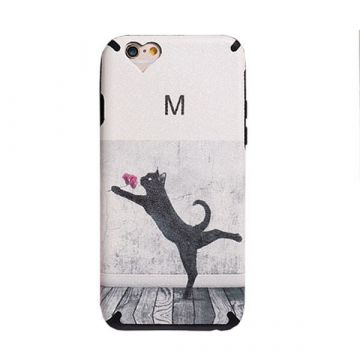 Coque TPU Chat et Fleur iPhone 6 / iPhone 6S