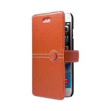 Etui Folio Façonnable orange iPhone 6 6S 7 8