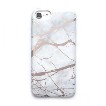 Soft Covers Goud marmeren textuur iPhone 7 / iPhone 8