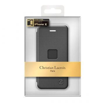 Zwart Portfolio case Christian Lacroix iPhone X