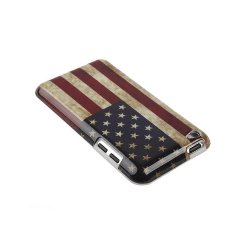 Cover Case Vintage American Flag iPod Touch 4