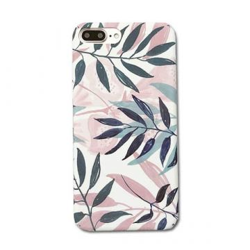 Coque rigide Soft touch feuilles imprimées iPhone 7 / iPhone 8