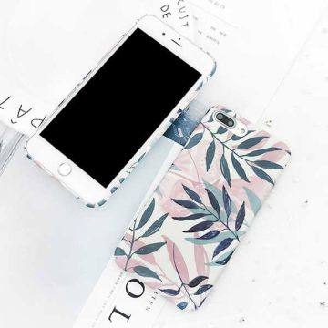 Hard case printed leaf iPhone 7 / iPhone 8