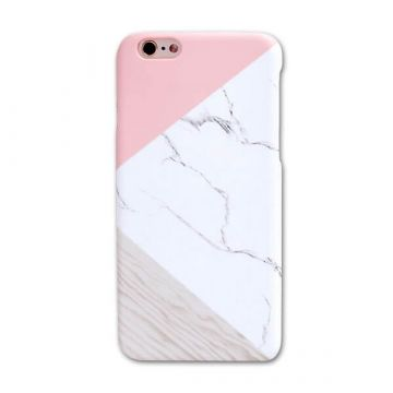 Coque rigide Soft touch marbre géométrique iPhone 7 / iPhone 8