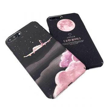 Coque rigide Soft Touch Lune rose iPhone 7 / iPhone 8