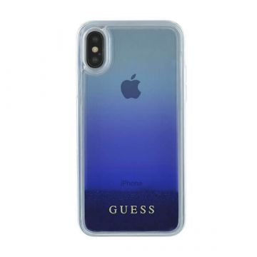 Glitter Case Blue Guess iPhone X