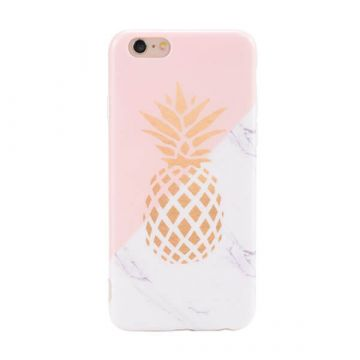 TPU Soft case pineapple - marble iPhone 6 / iPhone 6S