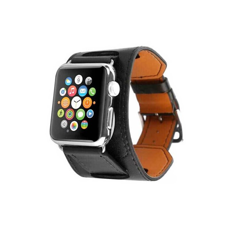 bracelet simili cuir 2 en 1 fashion band pour apple watch 38mm macmaniack. Black Bedroom Furniture Sets. Home Design Ideas