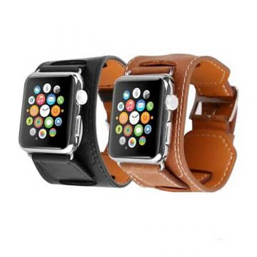 Bracelet simili cuir 2 en 1 Fashion Band pour Apple Watch 44mm & 42mm