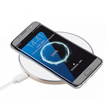 QI charging station with light contour