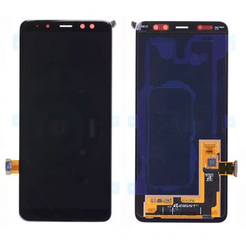 Original quality complete screen for Samsung A8 (2018) Black