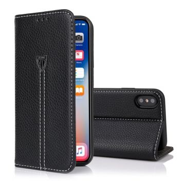 Leather effect iPhone X XUNDD portfolio stand case