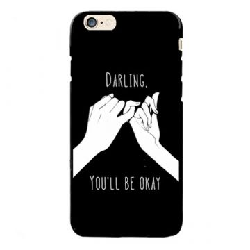 "Coque TPU ""You'll be ok ? "" iPhone 8 / iPhone 7"