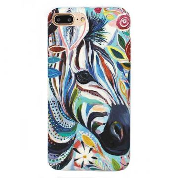 Coque rigide Soft touch Art Serie Zèbre iPhone 6 6S