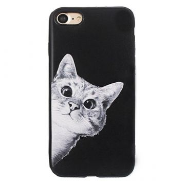 Hard case Soft Touch Curious Cat  iPhone 8 Plus / 7 Plus