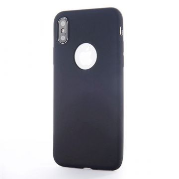 Coque Silicone iPhone X Xs - Noir