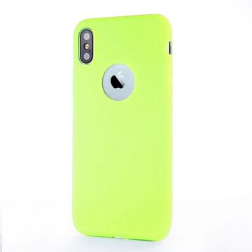 Coque Silicone iPhone X - Vert Pomme
