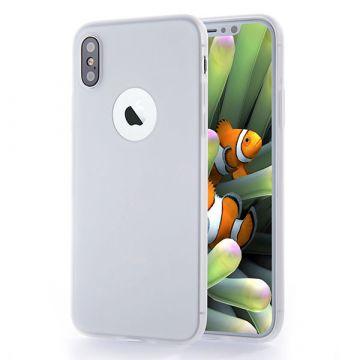 Coque Silicone iPhone X - Blanc transparent