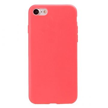 Coque Silicone iPhone 7 - Rouge Corail